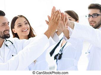 dar, doutores, five., alto, outro, grupo, cada