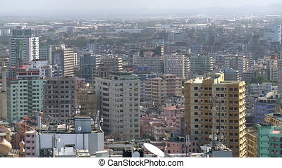 dar es salaam city in tanzania - view over dar es salaam...