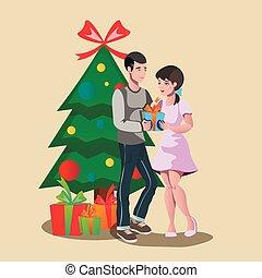 dar, family., feliz, gift., natal