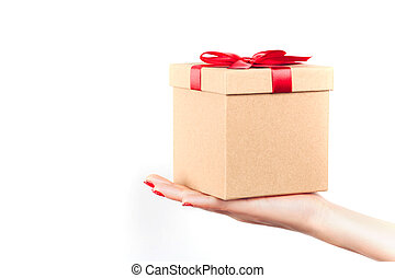 dar, presente, caixa