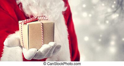 dar, regalo, claus, santa