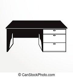 darabok, közül, furniture., diák, asztal.