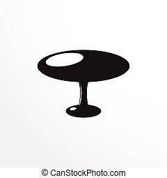 darabok, közül, furniture., kávécserje, asztal.