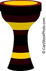 Darbuka musical instrument icon isolated - Darbuka,...