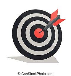 dards, flèches, dans, les, cible, center.