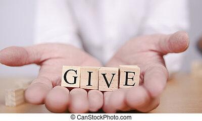 dare, citare, motivazionale, concetto, parole