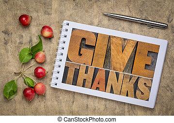dare, concetto, giorno, ringraziamento, ringraziamento, -
