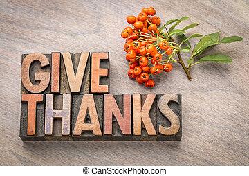 dare, concetto, -, ringraziamento, ringraziamento