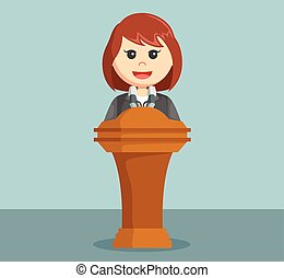 dare, donna d'affari, discorso