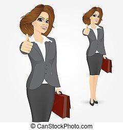dare, donna d'affari, pollici
