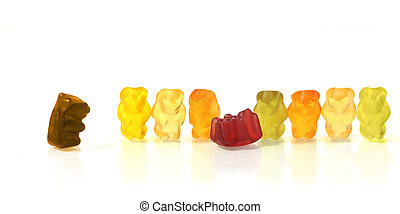 Dare to disobey authority - gummy bears