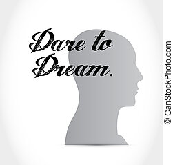 dare to dream mind sign concept
