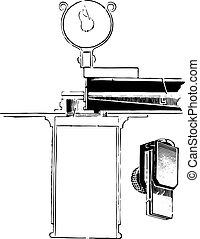 Dare's hemoglobinometer, vintage engraving.