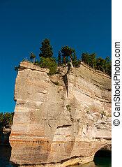 dargestellt, steinen, national, lakeshore