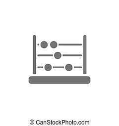 Dark abacus icon on a white background