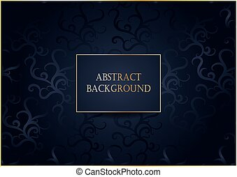 dark abstract background with pattern and gold frame