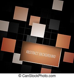 Dark abstract background with square pattern and place for your content.