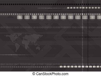 Dark abstract hi-tech background