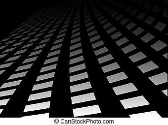 Dark abstract highway path