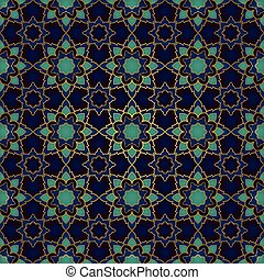 Dark abstract pattern. - Seamless pattern of simple mandala...