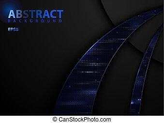 Dark Abstract Tech Background