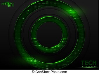 Tech Background with Green Elements