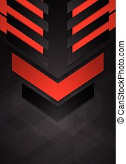 Dark abstract tech corporate background