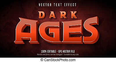 Dark ages text, game style editable text effect