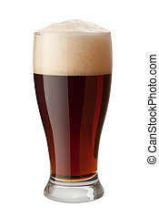 Dark Ale Isolated with clipping path - Dark Ale Isolated on...
