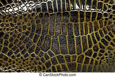 Dark alligator leather texture, can use as background