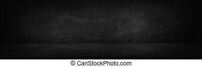 dark and black chalk board studio and wall background