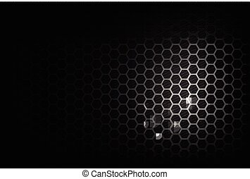 Dark and black with metal honeycomb pattern overlaps and layered and cabon fiber texture vector illustration eps 10 003