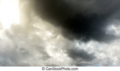 Dark and Dramatic Storm Clouds Area Background. Time lapse -...