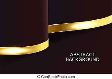 Dark and gold curves with lines background