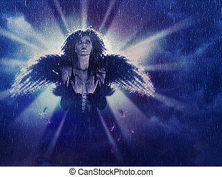 Dark Angel in the Rain