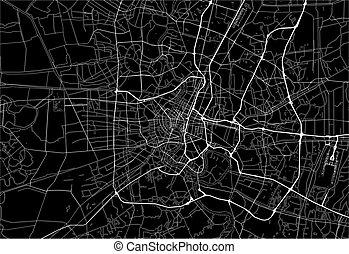 Dark area map of Bangkok, Thailand
