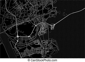 Dark area map of Macau