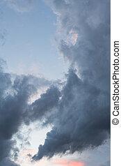 dark autumn clouds