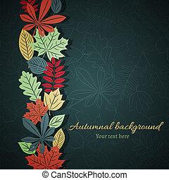 Dark autumn vector background