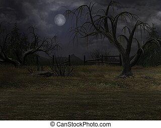Dark Background - 3D Render