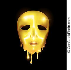 golden mask of liquid face
