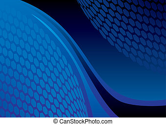 Dark abstract composition with spotted balls
