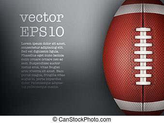Dark Background of American Football ball. Vector...