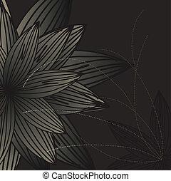Dark background with flowers