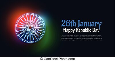dark background with glowing indian flag colors