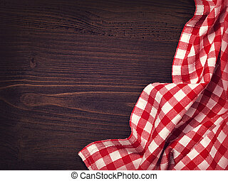 Dark background with napkin
