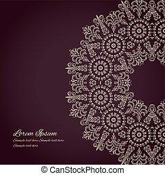 Dark background with oriental ornament