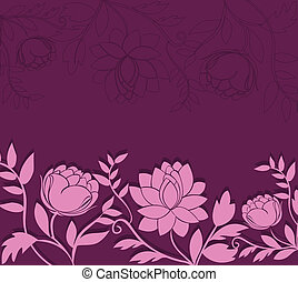 dark background with pink flowers