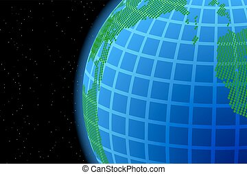 background with world map and globe