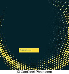 dark background with yellow halftone wave effect